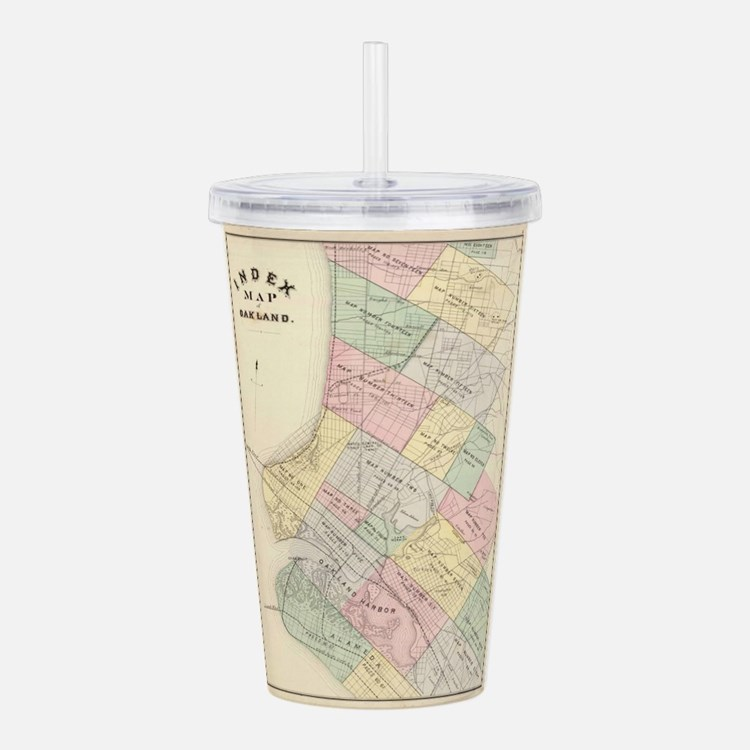 Vintage Map of Oakland Acrylic Double-wall Tumbler