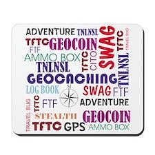 Geocaching Words Mousepad