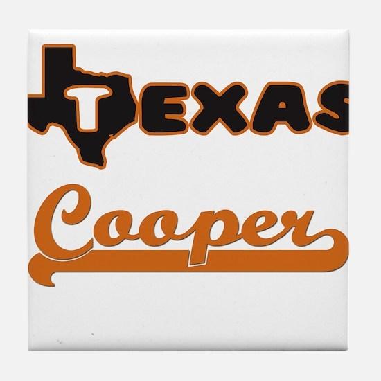 Texas Cooper Tile Coaster