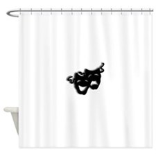 Comedy and Tragedy Theater Masks Shower Curtain