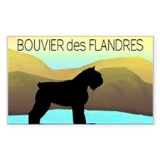 Bouvier By The Sea Rectangle Decal