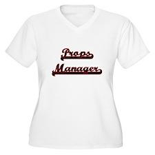Props Manager Classic Job Design Plus Size T-Shirt