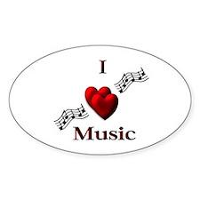 I Heart Music Decal