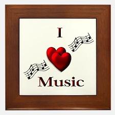 I Heart Music Framed Tile