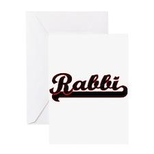 Rabbi Classic Job Design Greeting Cards