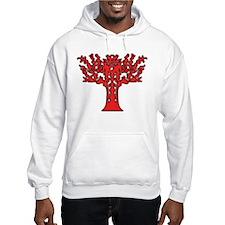 Red Flames Tree of Life Hoodie Sweatshirt