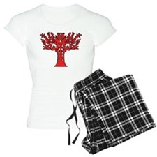 Red Flames Tree of Life Pajamas