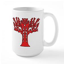 Red Flames Tree of Life Ceramic Mugs