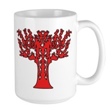 Red Flames Tree of Life Mug