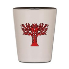 Red Flames Tree of Life Shot Glass