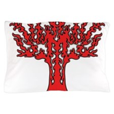 Red Flames Tree of Life Pillow Case