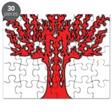 Red Flames Tree of Life Puzzle