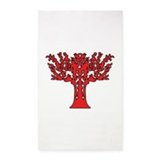 Red Flames Tree of Life Area Rug