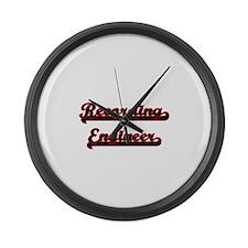 Recording Engineer Classic Job De Large Wall Clock