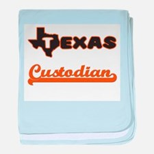 Texas Custodian baby blanket