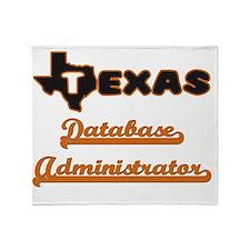 Texas Database Administrator Throw Blanket