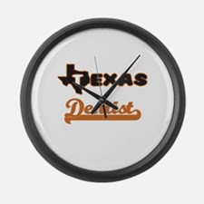 Texas Dentist Large Wall Clock