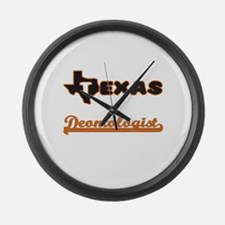 Texas Deontologist Large Wall Clock