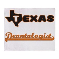 Texas Deontologist Throw Blanket