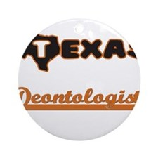 Texas Deontologist Ornament (Round)