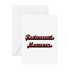 Restaurant Manager Classic Job Desi Greeting Cards