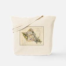 Vintage Map of Oahu Hawaii (1906) Tote Bag