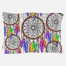 Dreamcatcher Rainbow Feathers Pillow Case