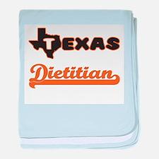 Texas Dietitian baby blanket