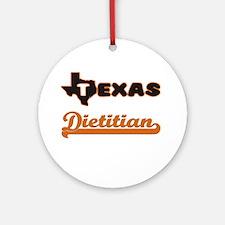 Texas Dietitian Ornament (Round)
