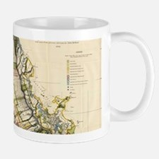 Vintage Map of Oahu Hawaii (1906) Mugs