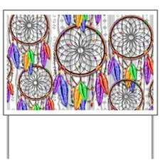Dreamcatcher Rainbow Feathers Yard Sign