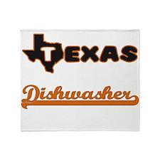 Texas Dishwasher Throw Blanket