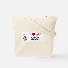 Unique Dogo argentino Tote Bag