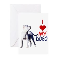dogos, dogo argentino Greeting Card