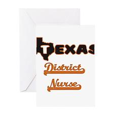 Texas District Nurse Greeting Cards