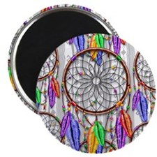 Dreamcatcher Rainbow Feathers Magnets