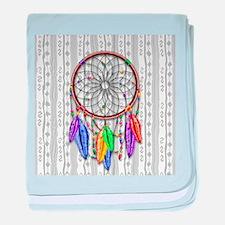 Dreamcatcher Rainbow Feathers baby blanket