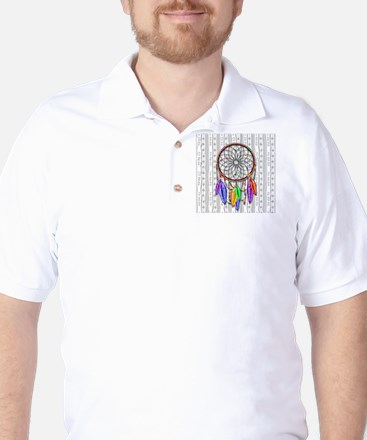 Dreamcatcher Rainbow Feathers Golf Shirt