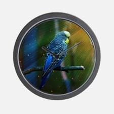 Budgie Wall Clock