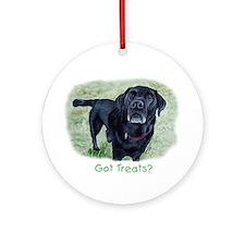 Got Treats? Lab Ornament (Round)