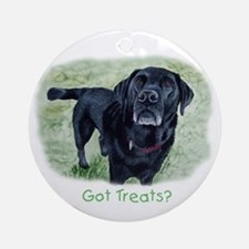 Got Treats? Lab Ornament (Round)