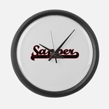 Sapper Classic Job Design Large Wall Clock
