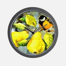 Nature - Bird Perched on a Tree Limb Wall Clock