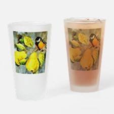 Nature - Bird Perched on a Tree Lim Drinking Glass