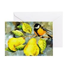 Nature - Bird Perched on a Tree Limb Greeting Card