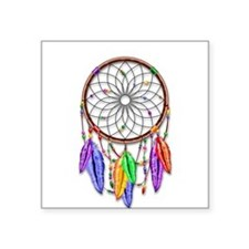 Dreamcatcher Rainbow Feathers Sticker