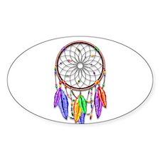 Dreamcatcher Rainbow Feathers Decal