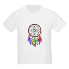 Dreamcatcher Rainbow Feathers T-Shirt