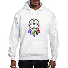 Dreamcatcher Rainbow Feathers Hoodie