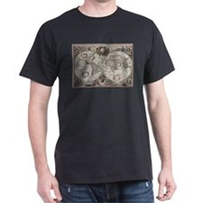 Vintage Map of The World (1630) T-Shirt